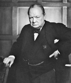 A portrait of Winston Churchill in 1941 during World War II