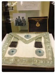 Winston Churchill's Masonic apron on display at a museum