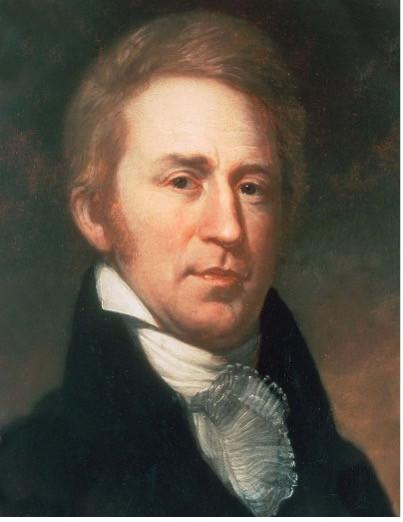 A painted portrait of William Clark