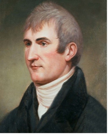 A painted portrait of Meriwether Lewis