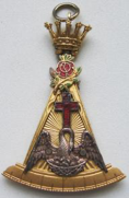 An 18° jewel containing symbols of the ritual