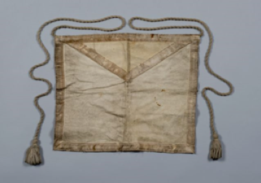 A photo of unidentified Prince Hall Master Mason Apron.