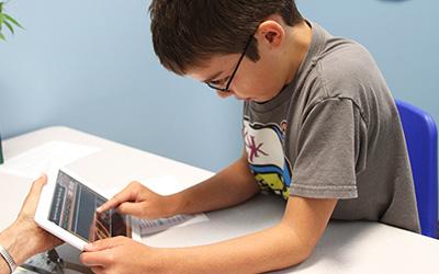 Student at Children's Dyslexia Center
