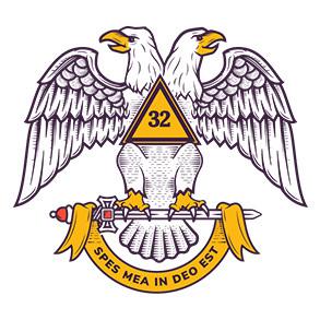 Scottish Rite double headed eagle logo