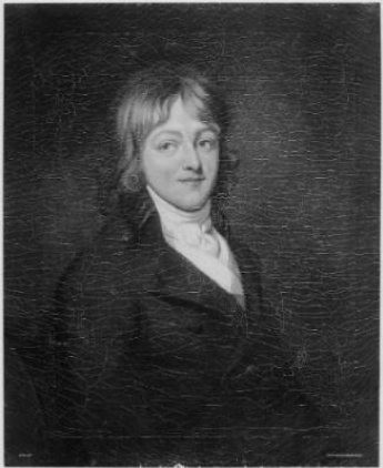 A painting of a young Francis Scott Key