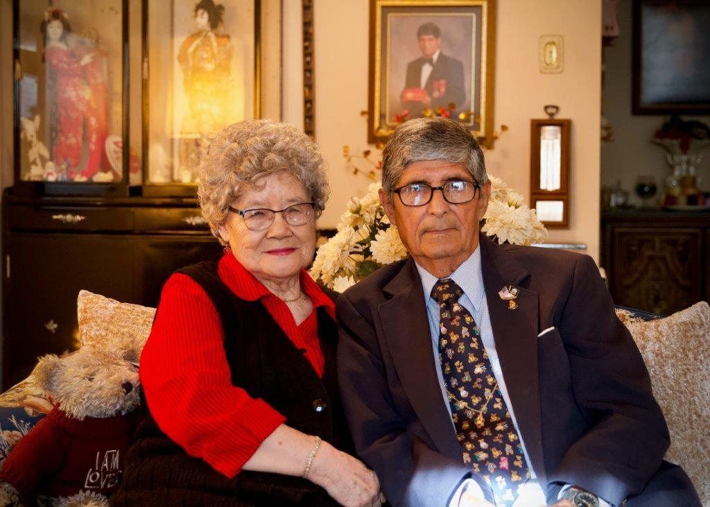 Frank and his wife, Terry - married for 62 years.