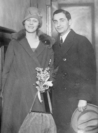 Irving and his second wife, Ellen. Circa 1920.