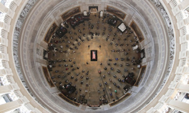 Brother John Lewis' body lying in state in the US Capitol Rotunda