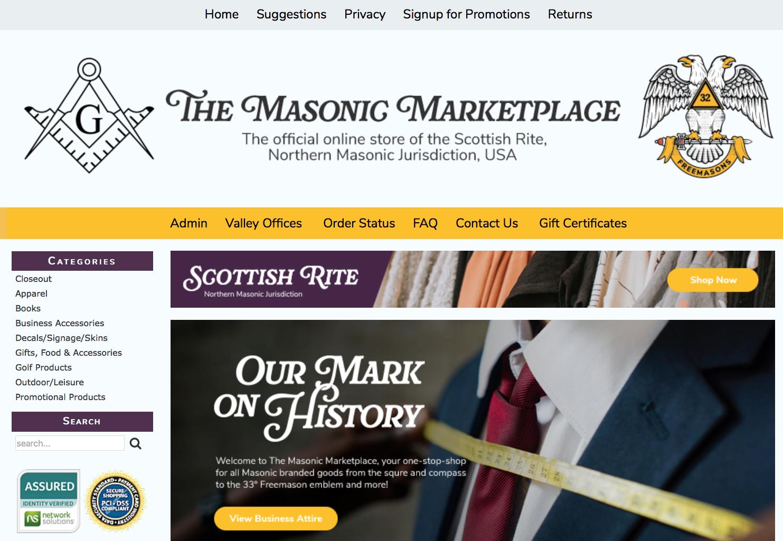 The Masonic Marketplace, the Scottish Rite, NMJ online store