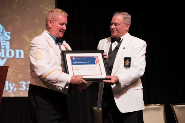 Presentation of Sammy Lee Davis Peace & Freedom Award