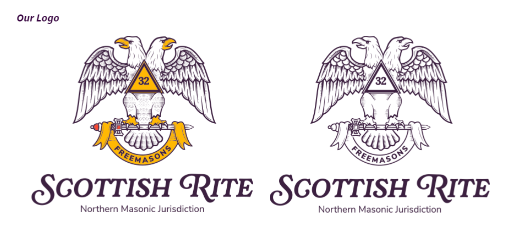 Scottish Rite double headed eagles