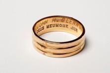 A photograph of Ill. Brother John Glenn's 33° ring