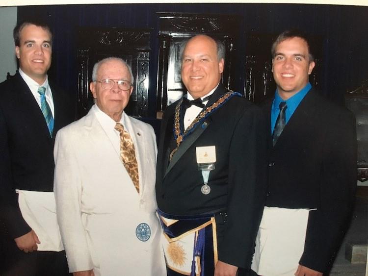 Bro. Policastro raising his twin sons in Ocean Lodge #89