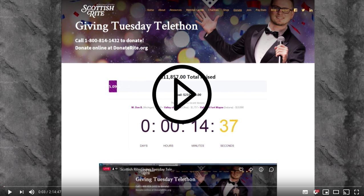 Giving Tuesday Telethon 2018