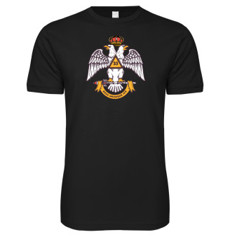 Contemporary Scottish Rite double-headed eagle t-shirt