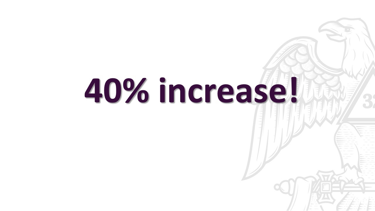 40% increase in new Scottish Rite members