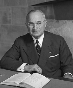 An official portrait of President Harry S. Truman