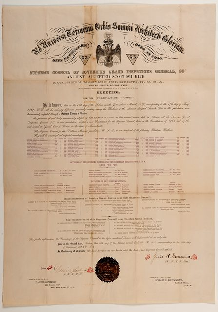 Treaty of the Union of the Scottish Rite NMJ