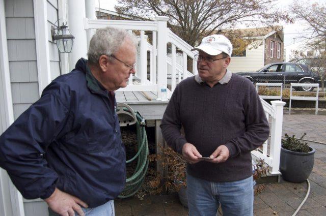 David Glattly assisting a Masonic Brother