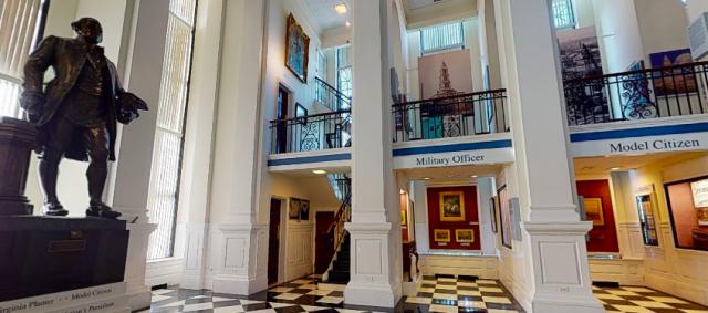 Inside of the George Washington Masonic Memorial
