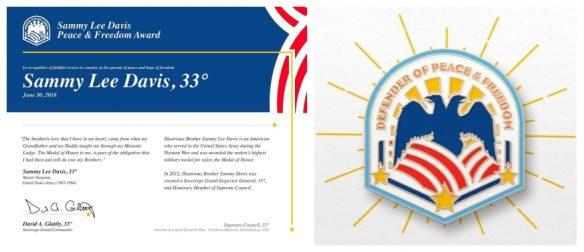 Sammy Lee Davis Peace & Freedom Award