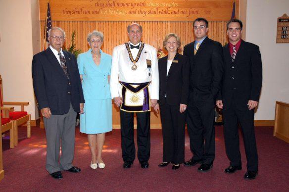 Policastro Family Portrait at Masonic Church Service