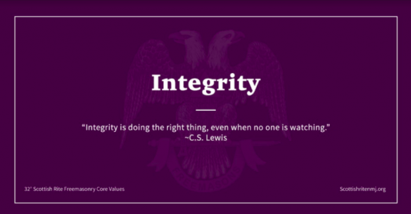 Masonic value of integrity