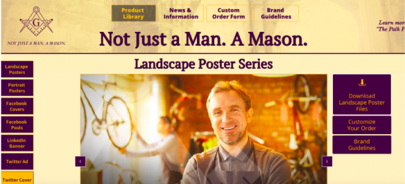 Not Just A Man. A Mason. website