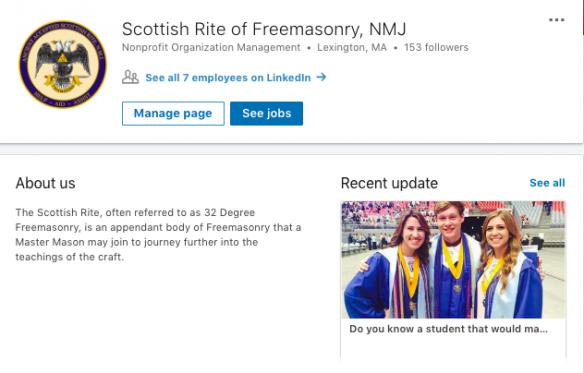 Scottish Rite LinkedIn profile