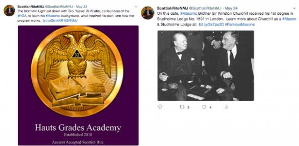 Scottish Rite Twitter posts