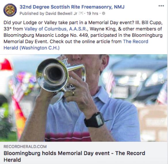 Scottish Rite Facebook post