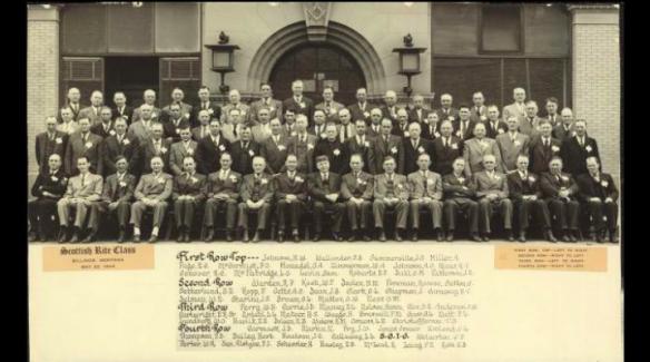Scottish Rite Class Photo