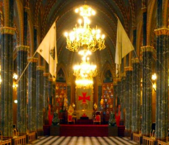 Interior of the Lodge of the Swedish Order of Freemasonry