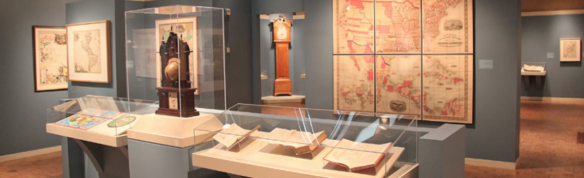 An exhibition gallery in the Scottish Rite Masonic Museum & Library
