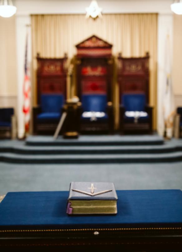 Interior of a Masonic lodge