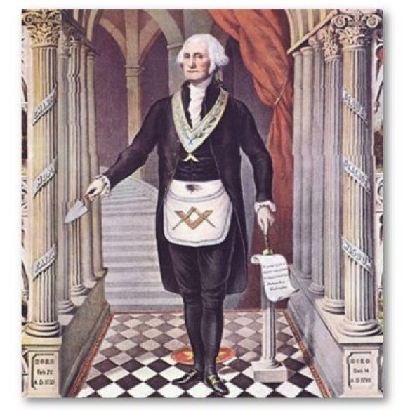 George Washington in a Masonic apron