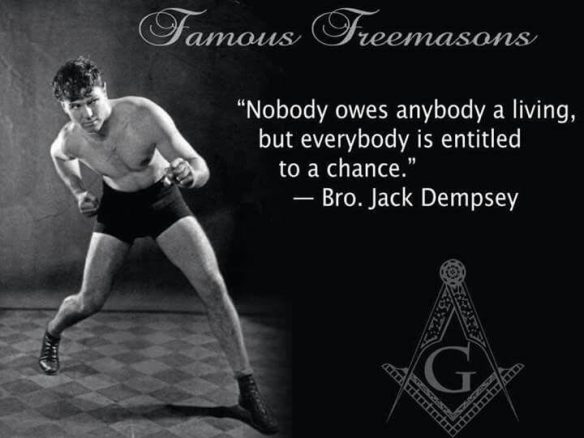 Quote from famous Freemason Jack Dempsey
