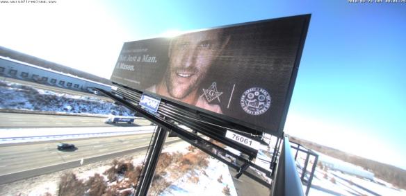 Not Just a Man. A Mason. billboard