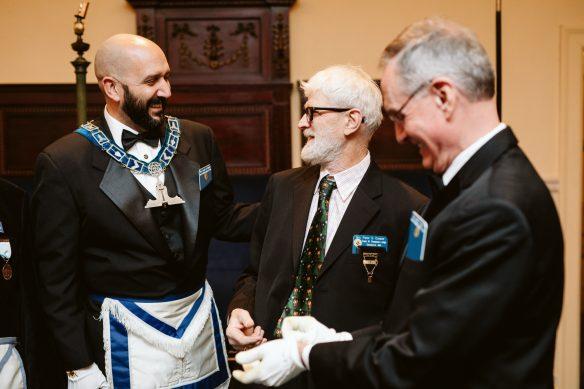 Masonic gathering at a lodge