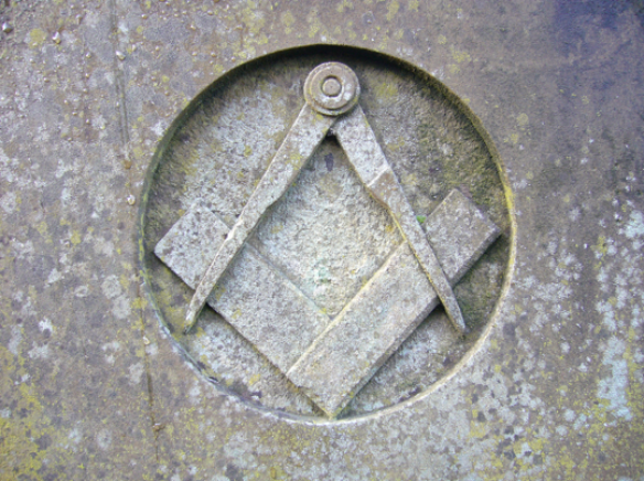 Stone square and compass