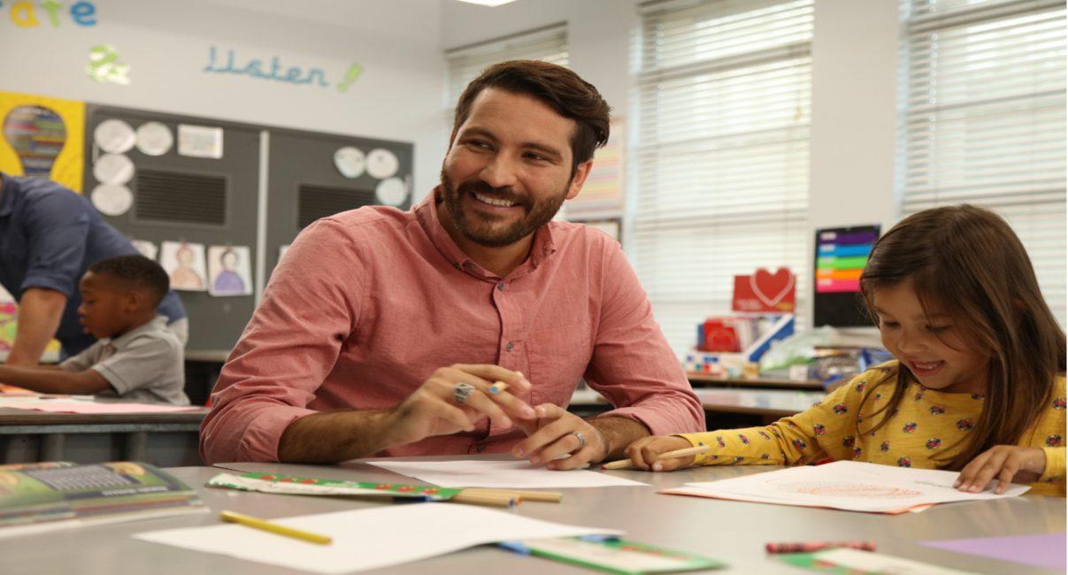 Children's Dyslexia Center tutor and student