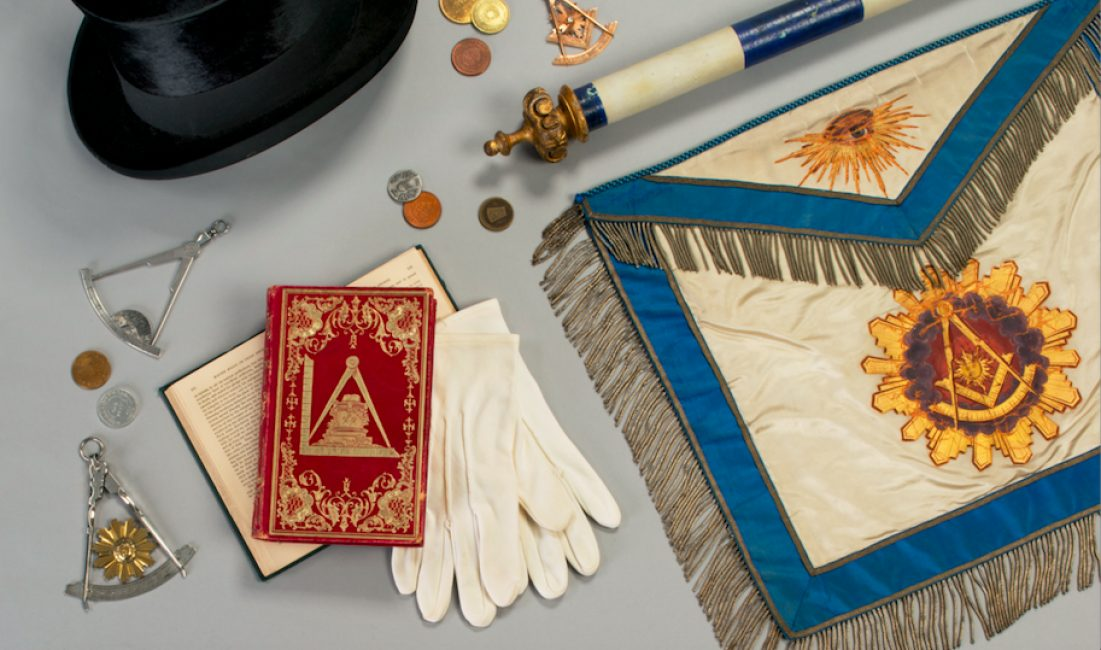 Masonic apron and other Masonic items