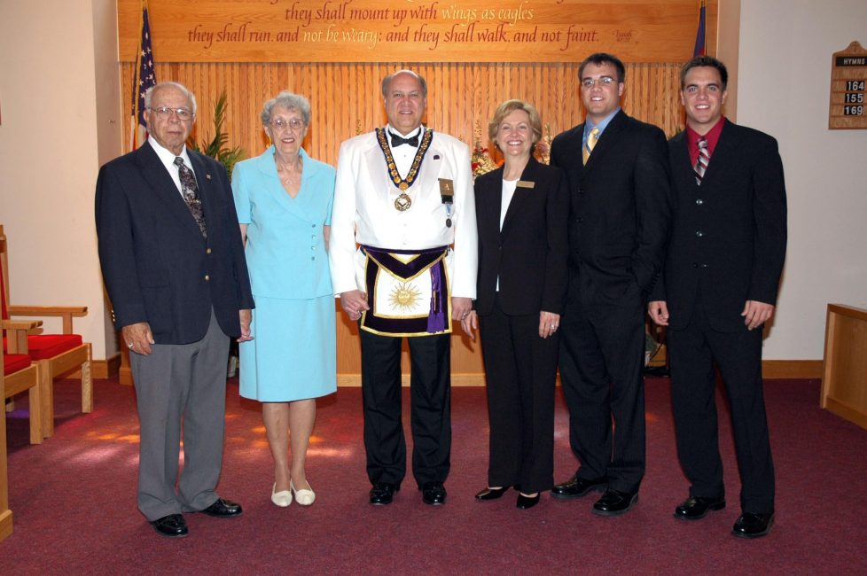 Policastro Family Portrait at Masonic Church Service