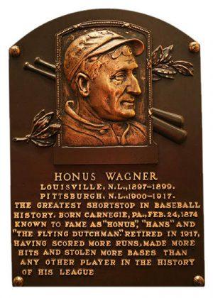A plaque commemorating Freemason Honus Wagner