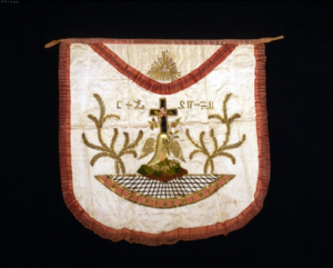 A Rose Croix Apron dating back to 1840.