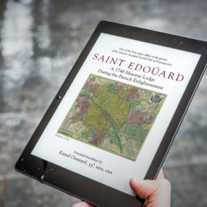 Saint Edouard book on a tablet
