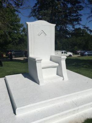 Masonic chair post-refurbishment