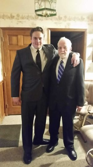 Brother Zachary Coles and his Grandfather, John Barr
