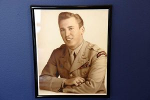 """The official U.S. Army photograph of range Leonard """"Bud"""" Lomell"""