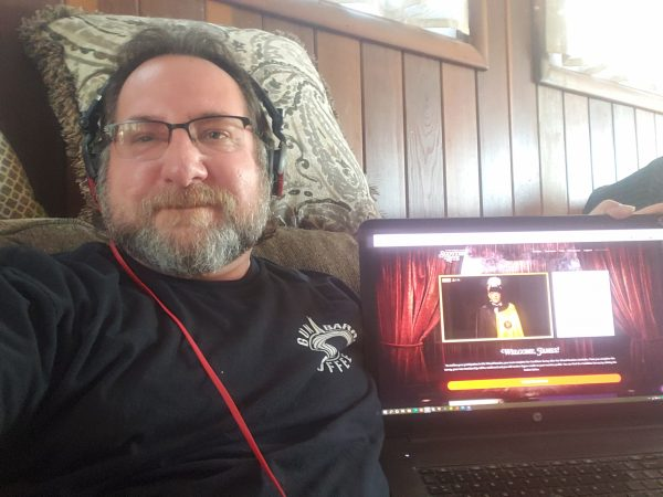 Brother Jay Colavita tuning in to our Virtual Reunion